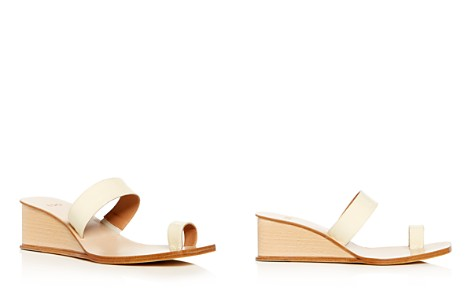 LoQ Women's Patent Leather Wedge Slide Sandals - Bloomingdale's_2