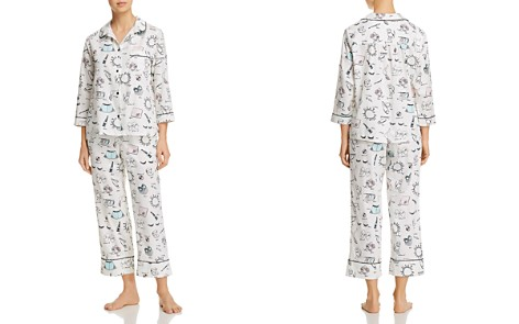 kate spade new york Bridal Printed Long PJ Set - Bloomingdale's_2