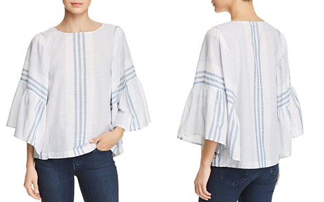 BeachLunchLounge Mixed Stripe Flare Sleeve Top - Bloomingdale's_2