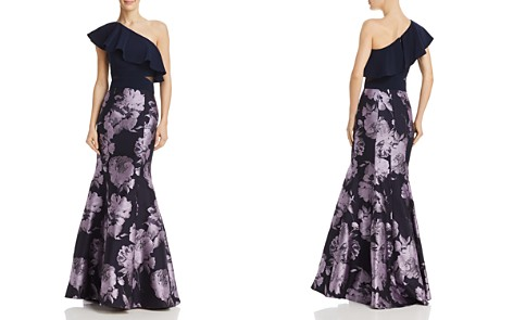 AQUA One-Shoulder Brocade Gown - 100% Exclusive - Bloomingdale's_2