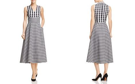Lafayette 148 New York Adina Mixed Gingham Midi Dress - Bloomingdale's_2