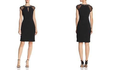 Eliza J Embellished-Neck Dress - Bloomingdale's_2