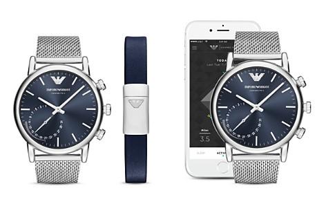 Armani Connected Steel Mesh Bracelet Hybrid Smartwatch Gift Set, 43mm - Bloomingdale's_2