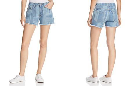 Derek Lam 10 Crosby Quinn Girlfriend Denim Shorts in Light Wash - Bloomingdale's_2