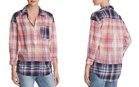 Joie Briselda Contrast-Plaid Shirt - Bloomingdale's_2
