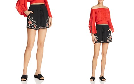 Band of Gypsies Floral Embroidered Shorts - Bloomingdale's_2