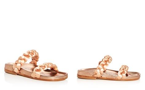 Oscar de la Renta Women's Charlee Satin Braid Slide Sandals - Bloomingdale's_2