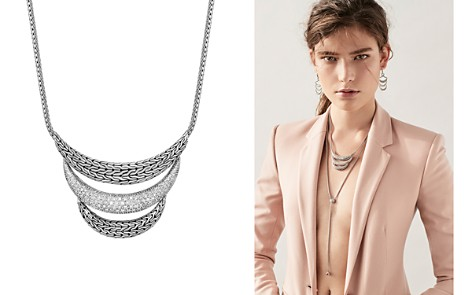"""John Hardy Sterling Silver Classic Chain Pavé Diamond Arch Necklace, 16"""" - 100% Exclusive - Bloomingdale's_2"""