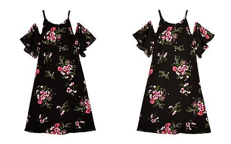 AQUA Girls' Cold-Shoulder Floral Dress, Big Kid - 100% Exclusive - Bloomingdale's_2