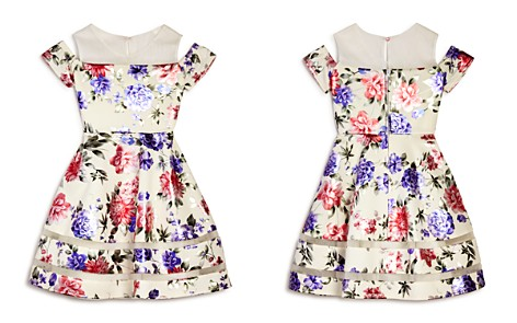 US Angels Girls' Floral Cold-Shoulder Dress - Big Kid - Bloomingdale's_2