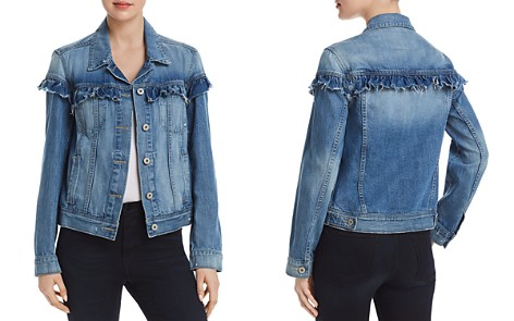 PAIGE Heidi Ruffled Denim Jacket in Damonde - 100% Exclusive - Bloomingdale's_2