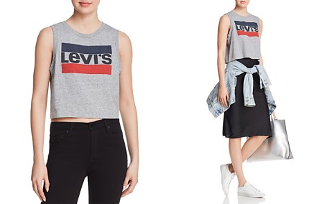 Levi's Graphic Crop Tank - Bloomingdale's_2