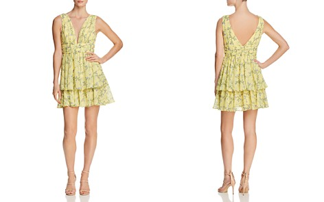 AQUA Tiered Floral Fit-and-Flare Dress - 100% Exclusive - Bloomingdale's_2