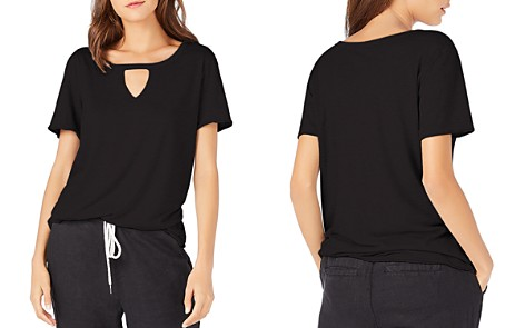 Michael Stars Round Neck Cutout Tee - Bloomingdale's_2