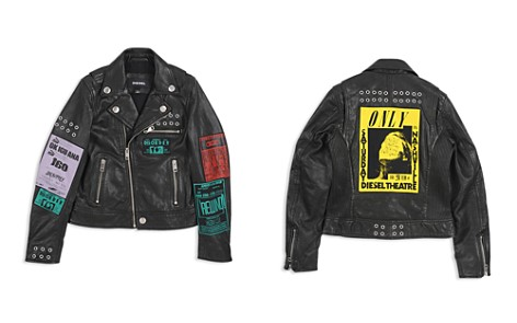 Diesel Boys' Tour-Patch Graphic Leather Moto Jacket - Big Kid - Bloomingdale's_2