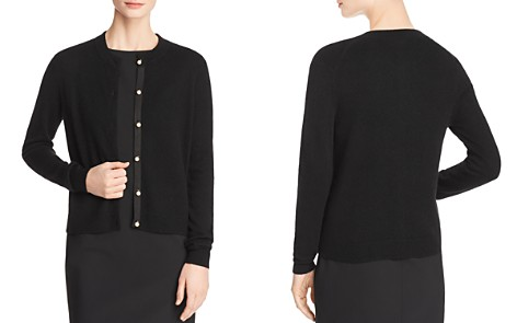 C by Bloomingdale's Faux-Pearl Button Cashmere Cardigan - 100% Exclusive _2