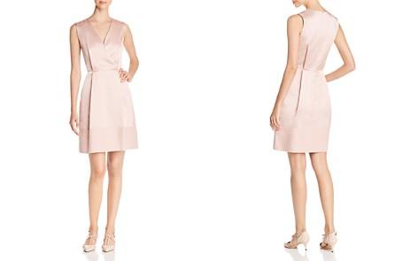 PAULE KA Crossover Satin A-Line Dress - Bloomingdale's_2
