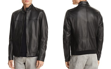 BOSS Nerous Leather Moto Jacket - Bloomingdale's_2