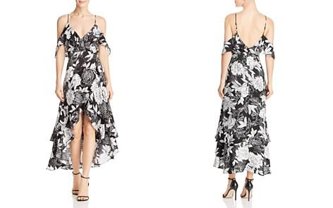 Bardot Floral Cold-Shoulder Faux-Wrap Dress - Bloomingdale's_2