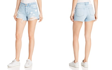 Pistola Asher Girlfriend Cutoff Denim Shorts in Tides - Bloomingdale's_2