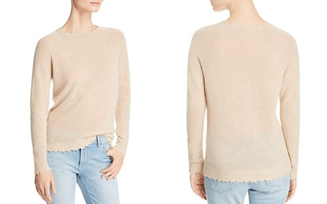 Minnie Rose Distressed Cashmere Crewneck Sweater - Bloomingdale's_2