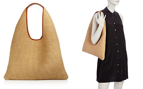 Arron Medium Triangle Raffia Shoulder Bag - Bloomingdale's_2