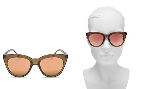 Le Specs Women's Halfmoon Magic Mirrored Cat Eye Sunglasses, 52 mm - Bloomingdale's_2