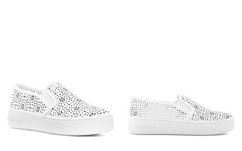 MICHAEL Michael Kors Women's Trent Perforated Leather Slip-On Sneakers - Bloomingdale's_2