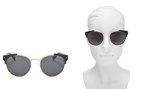 Polaroid Polarized Round Sunglasses, 56mm - Bloomingdale's_2