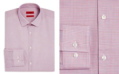 HUGO Micro-Check Slim Fit Dress Shirt - Bloomingdale's_2