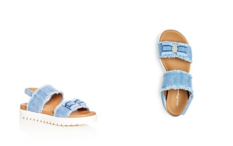 Salvatore Ferragamo Girls' Onda Frayed Denim Slingback Platform Sandals - Toddler, Little Kid, Big Kid - Bloomingdale's_2