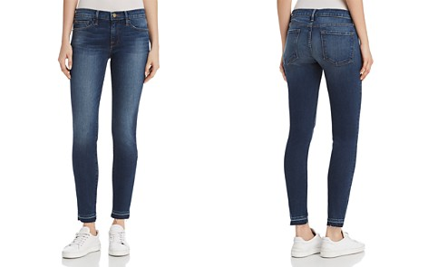 FRAME Le Skinny De Jeanne Released Hem Jeans in Woodbine - 100% Exclusive - Bloomingdale's_2