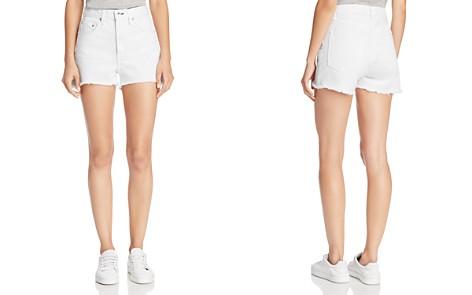 rag & bone/JEAN Justine High-Rise Denim Shorts in White - Bloomingdale's_2