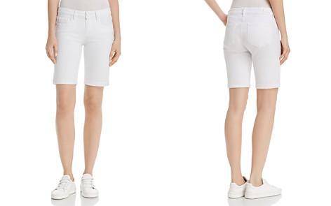 PAIGE Jax Denim Bermuda Shorts in Crisp White - Bloomingdale's_2