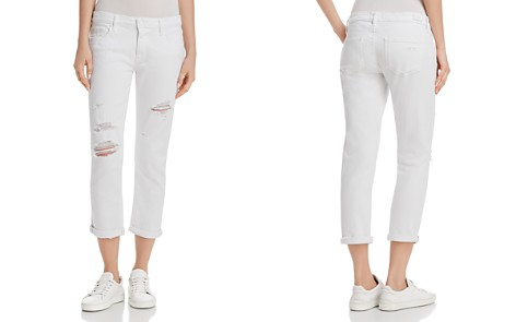 PAIGE Brigitte Straight Jeans in Bright White Destructed - Bloomingdale's_2