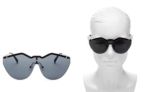 Le Specs Noir de Vie Shield Sunglasses, 143mm - Bloomingdale's_2