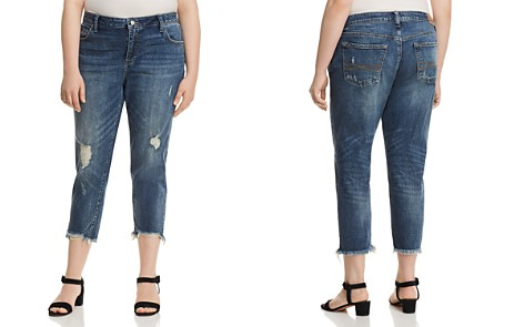 Lucky Brand Plus Reese Cropped Boyfriend Jeans in Beach Drive - Bloomingdale's_2