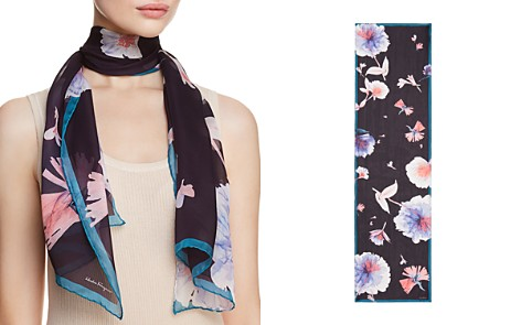 Salvatore Ferragamo Ethereal Floral Silk Oblong Scarf - Bloomingdale's_2