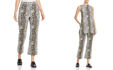 Weekend Max Mara Rino Cropped Flared Leopard-Print Pants - Bloomingdale's_2