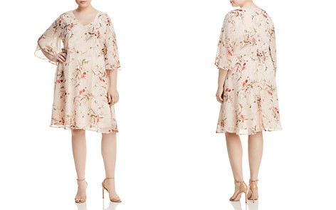 B Collection by Bobeau Curvy Brooker Floral-Print Dress - Bloomingdale's_2