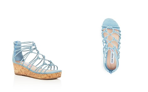Steve Madden Girls' Wistful Denim Strappy Platform Wedge Sandals - Little Kid, Big Kid - Bloomingdale's_2