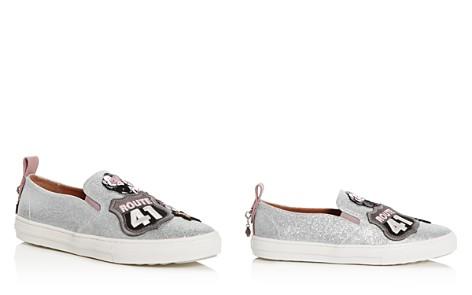 COACH Women's Cherry Appliqué Glitter Slip-On Sneakers - Bloomingdale's_2