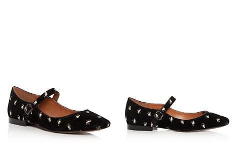 COACH Women's Floral Print Suede Mary Jane Flats - Bloomingdale's_2