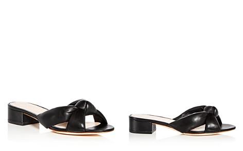 Loeffler Randall Women's Elsie Leather Low Block Heel Slide Sandals - Bloomingdale's_2