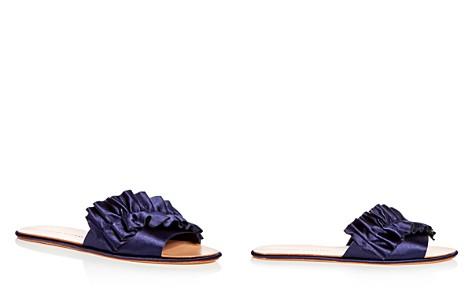 Loeffler Randall Women's Rey Satin Ruffle Slide Sandals - Bloomingdale's_2