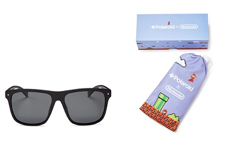 Polaroid x Nintendo Flat Top Square Sunglasses, 58mm - 100% Exclusive - Bloomingdale's_2