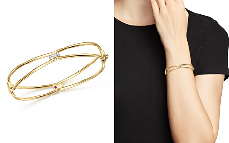 Roberto Coin 18K Yellow Gold Classic Parisienne Diamond Bangle - 100% Exclusive - Bloomingdale's_2