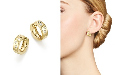 Bloomingdale's Diamond Huggie Hoop Earrings In 14K Yellow Gold, 0.20 ct. t.w. - 100% Exclusive _2