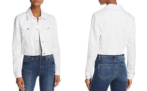 J Brand Faye Cropped Denim Jacket in White - Bloomingdale's_2