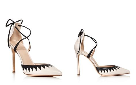 Pour La Victoire Women's Cenya Leather Ankle Tie Pumps - Bloomingdale's_2